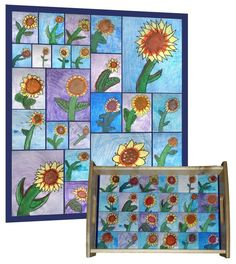 Class Art Projects For Auction | Gorgeous classroom art project | Classroom auction project ideas