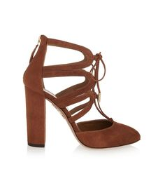 Aquazzura Holli Cutout Suede Pumps ($795)  Why Breaking In Your Shoes Will Ruin Your Feet via @WhoWhatWear