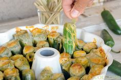 Make jalapeno poppers using a bundt pan to keep all the cheesy goodness tucked in every bite.