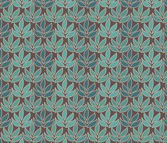 Leaf Texture Fabric new crop-bluegreen minagreen brown 1 small fabric by mina on…