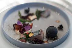 Marinated mackerel and sesame ice cream at Restaurant La Vie