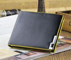High quality Men's Fashion vintage genuine leather short men wallets male wallets man purse