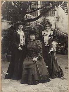 Three Queens: Alexandra of England, Amélia of Portugal and Maria Pia de Sabóia, Sintra 1905 - Ajuda National Palace