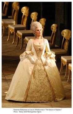 Costume from Tchaikovsky's Opera, The Queen of Spades.