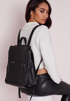 Backpacks are back and better than ever. This totally chic backpack is perfect for fitting in your bits and pieces whilst keeping a fresh new look. With gold buckle and zipper finishes and a sleek front pocket this accessory makes the perfe...