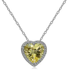 Look at this Citrine & White Topaz Heart Pendant Necklace on #zulily today!