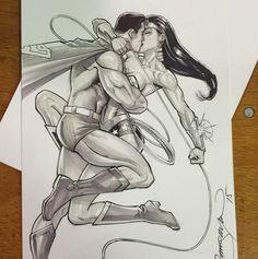 #superman #wonderwoman #sketch #drawing #dccomics #MSPComiccon by tomnguyenstudio