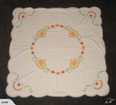 Vintage Embroidered Tablecloth | Trade Me