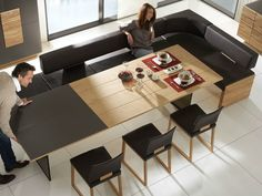 Expandable dining table – functional ideas for your dining room - Decoration ideas Wood Pallet Furniture, Home Furniture, Natural Furniture, Dining Room Table, Dining Area, Table For Small Space, Small Spaces, Expandable Dining Table, Dining Room