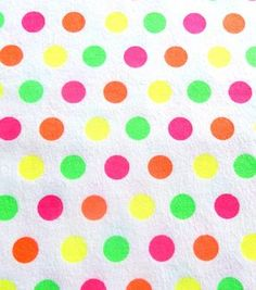 Fashion Flannel Dots Neon