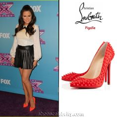 Khloe Kardashian Christian Louboutin Pigalle Studded Pumps