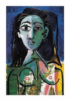 Pablo Picasso - Buste de Femme (Jaqueline)