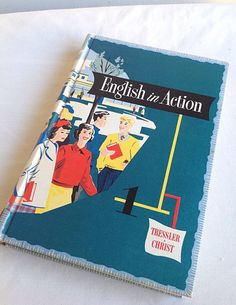 """Vintage """"English in Action"""" Textbook 1955 Near Mint! on Etsy, $18.00"""