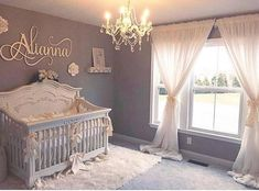 50 Cute Baby Nursery Ideas for Your Little Princes – Baby girl nursery room - Baby Room Baby Bedroom, Baby Room Decor, Nursery Room, Nursery Ideas, Baby Gurl Nursery, Elegant Baby Nursery, Twin Baby Rooms, Room Baby, Rustic Nursery