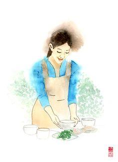 drawing_식사를 준비하는 여인