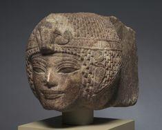 ump.di (1116×893) Head of Amenhotep III Wearing the Round Wig - New Kingdom, Dynasty 18, reign of Amenhotep III, 1391-1353 BC - brown quartzite