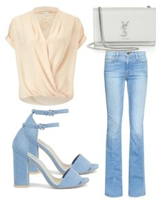 """Untitled #3142"" by evalentina92 ❤ liked on Polyvore featuring Yves Saint Laurent, Miss Selfridge, Frame Denim and Nly Shoes"