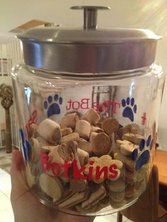 Silhouette dog treat jar