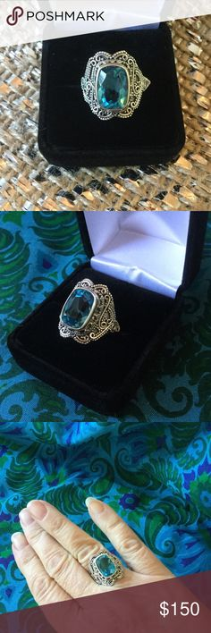 Spotted while shopping on Poshmark: OUTSTANDING Blue Topaz Ring !! #poshmark #fashion #shopping #style #Hilton Head Boutique #Jewelry