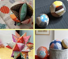links to 4 fabric ball tutorials Baby Sewing Projects, Sewing For Kids, Diy For Kids, Sewing Toys, Sewing Crafts, Fabric Balls, Scrap Busters, Diy Bebe, Fabric Toys
