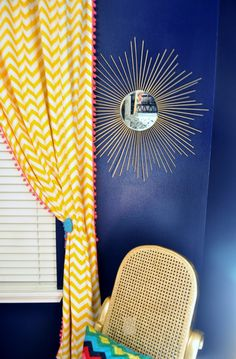 DIY sunburst mirror - love the placement right by the window! #nursery