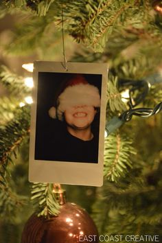 make Polaroid photo ornaments for the tree! I LOVE this