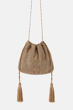 ZARA - Female - Shiny mini crossbody bag - Pink - M Potli Bags, Bridal Clutch, Beaded Bags, Mini Crossbody Bag, Summer Bags, Party Bags, Luxury Bags, Evening Bags, Fashion Bags