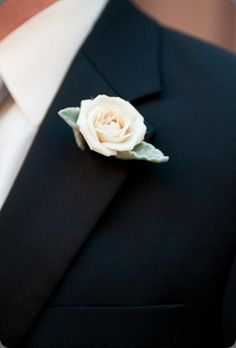 Buttonhole Boutonniere with Spray Rose & Dusty Miller... no stem :)