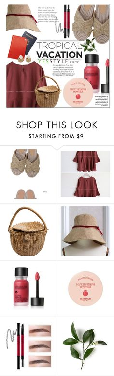 """""""Summer picnic outfit - YESSTYLE"""" by dian-lado ❤ liked on Polyvore featuring Goroke and Skinfood"""