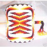 Shoshone Beadwork | eBay Image 1 Large Cut Bead Shoshone Geometrical Stick Barrette