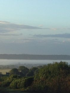 Look at that fog in the valley Marlow Bottom Marlow, Beautiful Sky, River, Mountains, Places, Nature, Outdoor, Outdoors, Naturaleza