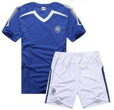 Soccer Jersey & Shorts Set (Blue & White)