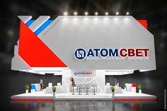 exhibition design ATOM SVET on Behance