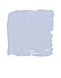 """BENJAMIN MOORE WINDMILL WINGS 2067-60: """"Blue is America's favorite color. It's certainly the most telegenic. That's why politicians wear blue shirts, and why the new White House pressroom is blue. It's cool. It's calming. It's all about blue skies and fresh air. This is an ethereal blue, with a touch of red that gives it a lavender cast. I love it with ivory and cyclamen pink."""" -Jamie Drake"""
