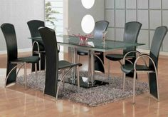 Best Of 28 Imageries For Modern Dining Room Sets For 6 - Home Living Now Glass Dining Table Designs, Glass Dining Table Set, Dining Room Sets, Dining Room Design, Dining Room Furniture, Room Chairs, Furniture Design, City Furniture, Dining Tables