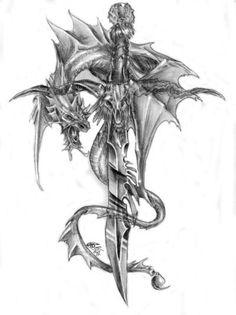 • Celtic Dragon Tattoos, Dragon Tattoos For Men, Dragon Tattoo Designs, Viking Tattoos, Skull Tattoos, Body Art Tattoos, Tribal Tattoos, Sleeve Tattoos, Dragon Tattoo Drawing