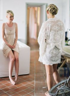 Every bride needs a special gown to get ready in!