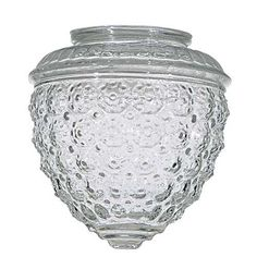 Clear Pineapple Glass Shade - Fitter Opening at Destination Lighting Light Fixtures Bedroom Ceiling, Pendant Light Fixtures, Ceiling Shades, Lamp Shades, Light Shades, Pineapple Chandelier, Glass Light Globes, Replacement Glass Shades, Unique Lamps