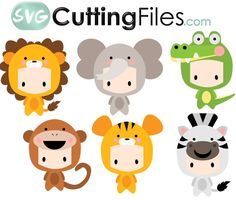 Chibi Kids as Jungle Animals - Non prima doll stamps - Animals Pictures Free Printable Stickers, Cute Stickers, Jungle Animals, Felt Animals, Doodle Drawings, Animal Drawings, Kid Character, Character Design, Prima Doll Stamps