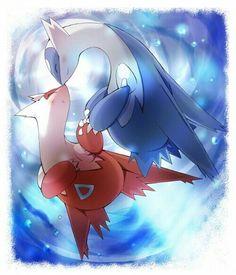Latias, Latios, blushing, cute; Pokemon