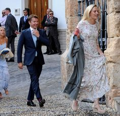 Guests arrive in Granada for the wedding of the Duke of Wellington's daughter Lady Charlot...