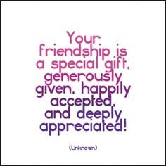 Your friendship is a special gift, generously given, happily accepted, and deeply appreciated! - Unknown Each card measures approximately 5 x Envelope included. Birthday Verses, Happy Birthday Quotes, Birthday Messages, Birthday Quote For Friend, Birthday Sentiments, Birthday Cards, Verses About Friendship, Friendship Cards, Friendship Quotes