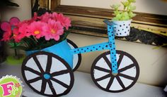 Florero en forma de Bicicleta para MAMÁ! // Floritere