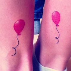 Then again, BFF tattoos don't have to be conceptual. You can always just get the same thing, but go for a design that symbolizes love/fun/free spirits:   24 Cherishable Best Friend Tattoos