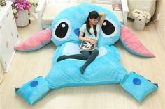 Giant stitch pillow