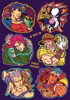 JJBA Part 3 Sticker Sheet