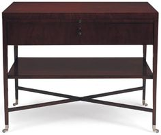 Rectangular table in swirl mahogany 34w x 24d x 27h.  SOUTHHILLHOME.COM