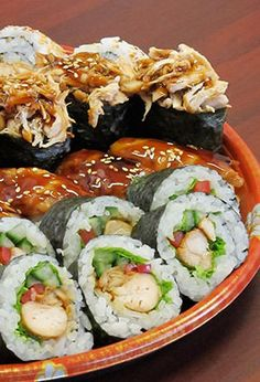 Chicken sushi, Buffalo chicken and Buffalo on Pinterest