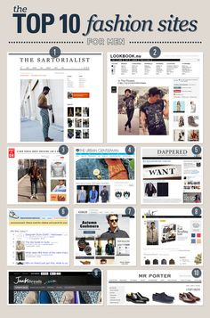 Top 10 Fashion Sites for Men | The Stylitics Report