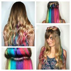 Hidden rainbow hair - Unicorn hair - Skittles hair - Fruity Pebbles hair